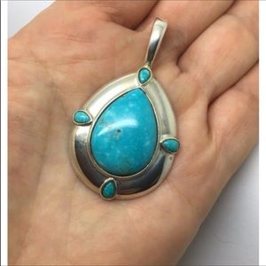 FINAL PRICE Carolyn Pollack turquoise pendant
